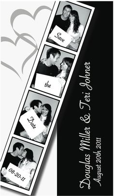 Our Save The Dates - photo strip <3