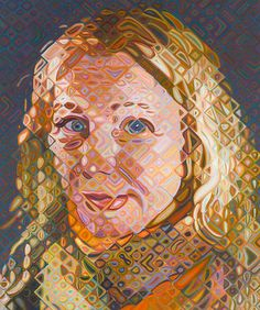 Cindy Sherman — by Chuck Close at The Pace Gallery — New York Chuck Close Paintings, Chuck Close Art, Chuck Close Portraits, Paintings I Love, Abstract Portrait, Portrait Art, Yale School Of Art, High School, Scale Art