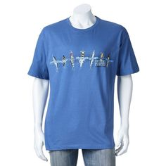 """Men's Newport Blue """"Special Forces Diving Into Action"""" Tee, Size:"""