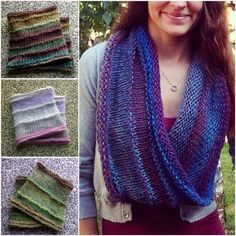 Hand Knit Infinity Scarf in Beautiful Earthy Tones by WarmerStyle