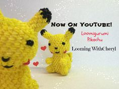 In this Video I will be showing you how to crochet, and create this little Loomigurumi Amigurumi Pikachu Pokémon inspired. Loom Band Patterns, Rainbow Loom Patterns, Rainbow Loom Creations, Rainbow Loom Charms, Rainbow Loom Bracelets, Rainbow Loom Bands, Loom Crochet, Loom Knitting, Crochet Hooks