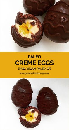 I know I can't be the only one missing Cadbury Creme Eggs at Easter, never fear Paleo Creme Eggs are here! They're Vegan, raw, allergen free, and yummy.