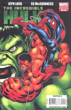 - Written by Jeph Loeb and Art by Ed McGuinness WHO IS THE RED HULK?! THE AMAZING SPIDER-MAN IS GOING TO TRY AND FIND OUT! GREEN HULK! RED HULK! SPIDEY! SECRETS REVEALED! A STORY SO BIG IT CAN BARELY