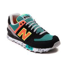 new balance 574 black and green