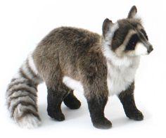 stuffed animals | Raccoon Plush Stuffed Animal from Hansa (Standing Raccoon), 15in