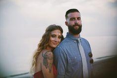 Bright & Bold Bohemian Engagement Shoot  - one stylish couple