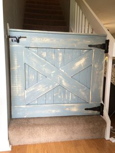 Baby Gate Pet Gate shabby chic farmhouse style by LantzWoodworking