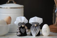 A personal favorite from my Etsy shop https://www.etsy.com/listing/607212745/mini-kitchen-gnome-chef-baker-kitchen
