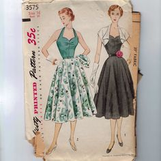 1950s Vintage Sewing Pattern Simplicity by historicallypatterns