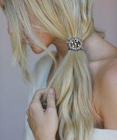 Look at this #zulilyfind! Peach Circle Bead Hair Tie by Three Bird Nest #zulilyfinds