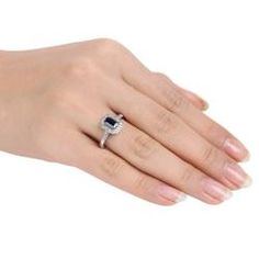 @Overstock - Created sapphire and diamond ringSterling silver jewelryClick here for ring sizing guidehttp://www.overstock.com/Jewelry-Watches/Sterling-Silver-Created-Sapphire-and-Diamond-Ring/5594020/product.html?CID=214117 $44.49