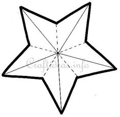 5 point star template | Craft Pattern - 5-Pointed Star Pattern