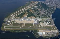 "Placed on the ""Governor`s Island"" Galeão Airport threshold is surrounded by the water of Guanabara's Bay. - Photo taken at Rio de Janeiro - Galeao International (Antonio Carlos Jobim) (GIG / SBGL) in Brazil on February 11, 2017."