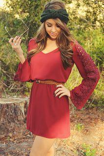 Love I Need Dress: Burgundy | Hope's