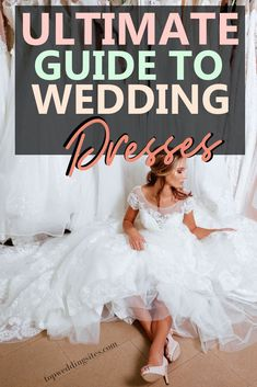 Choosing the right wedding dress for your body shape is an art in itself. This ultimate guide to wedding dresses is written just for you to take the guesswork out of choosing your perfect wedding dress! #weddingdressguide #weddingdresses #ultimateweddingguides