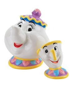 Take a look at this Westland Giftware Mrs. Pots & Chip Salt Shaker & Pepper Shaker by Disney Kitchen Collection on #zulily today!