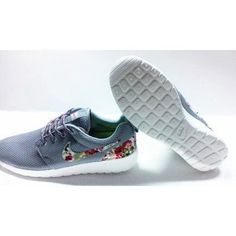 91a51de8122d Nike Roshe Run Floral Grey Men Womens on We Heart It