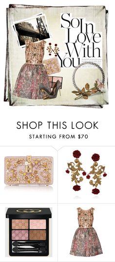 """""""sweet memories and elegance!! #datenight #florals #classic"""" by fashionlibra84 ❤ liked on Polyvore featuring Behance, Dolce&Gabbana, GALA, Gucci, Notte by Marchesa and Sergio Rossi"""