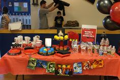 What awesome ideas!  Thanks to:   http://anewdawnn.blogspot.com/2012/02/ninjago-birthday-party.html