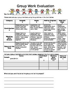 I created this rubric and have used it many times. It motivates students to contribute to group projects, makes them accountable, and provides them with an opportunity for reflection.
