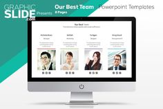 Our Best Team - Powerpoint Templates by Graphicslide on Creative Market