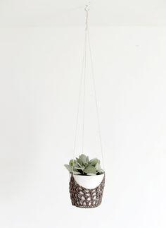 DIY Crochet Hanging Planter @themerrythought