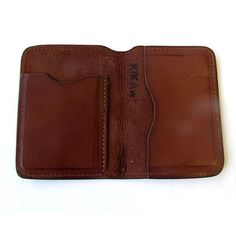 Card Holder with 2 slots. Both can hold about 4 credit cards. $65.Available in Natural, Brown & Black.