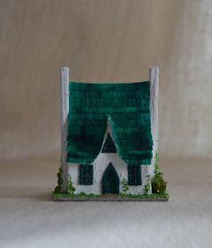 Meadow Green Cottage: a 1/144 scale light up OOAK dollhouse by WeeLittleDelights