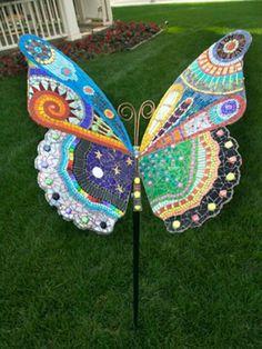 """Dreams"" butterfly mosaic by Irina Charny mosaic artist. Mosaic Garden Art, Mosaic Art, Mosaic Glass, Glass Art, Stained Glass, Butterfly Mosaic, Mosaic Birds, Mariposa Butterfly, Mosaic Crafts"