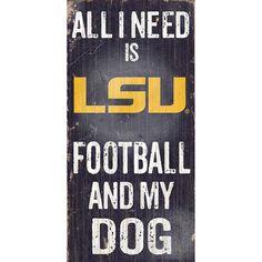 LSU Tigers Football & My Dog Sign, Multicolor