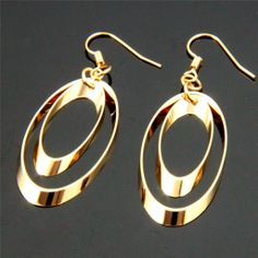 Fashion Stylish 18K Gold Plated Drop Dangle Earrings for Wedding Party | eBay