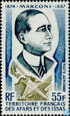 1974 Afars and Issas - Guglielmo Marconi Stamp Collecting, My Stamp, Issa, Postage Stamps, France, Djibouti, Famous People, Countries, Pictures