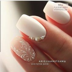 NagelDesign Elegant ( No name ) Best Picture For wedding nails dip powder For Your Taste You are looking for something, and it is going to tell you Silver Nails, Pink Nails, Gel Nails, Elegant Nails, Stylish Nails, Elegant Chic, Elegant Bridal Nails, Elegant Nail Designs, Cute Nails
