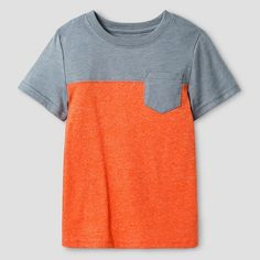 Toddler Boys' Short Sleeve Colorblock T-Shirt Cat & Jack™ - Orange Fire Globe : Target