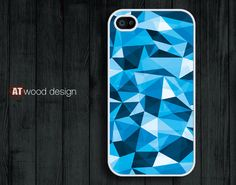 iphone 4 case iphone 4s case iphone 4 cover illustrator blue edge design printing. $13.99, via Etsy.