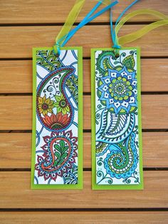 Hey, I found this really awesome Etsy listing at https://www.etsy.com/listing/189941001/zentangle-bookmarks-two-blue-and-green