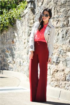 polished AND playful - she always rocks the best combos! @9to5chic