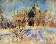 Piazza San Marco a Venezia , Renoir