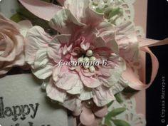 Мастер-класс Открытка День рождения Ассамбляж Открытка для англичанки и МК цветка Бумага Картон фото 2