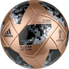 adidas 2018 Fifa World Cup Russia Telstar Glider Soccer Ball, Gold/Black