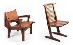 Кресло «Hunting chair», 1960, Эквадор  Дизайнер: Angel I. Pazmino   Производство: Meubles de Estilo  2. Стул «Conoid», 1947, США  Дизайнер: George Nakashima   Производство: George Nakashima
