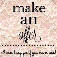 Make me a reasonable offer!✨ I love offers! Other