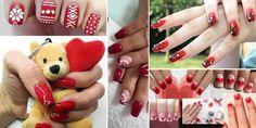 unghie-rosse-decorate