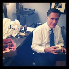 Mitt before The Tonight Show with Jay Leno.