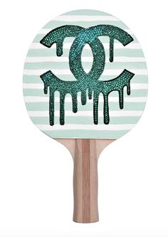 "Serve a killer game with a Crystahhled designer ping pong paddle! Printed on a layer of .12"" EVA closed cell padding to provide a forgiving hitting surface for accuracy. - Dimensions: 6"" x 6.25"" strik"