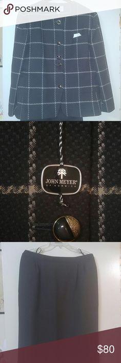 John Meyer suit New slate grey suit. Jacket and skirt. John Meyer of Norwich  Jackets & Coats Blazers