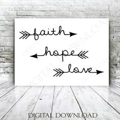 Faith Hope Love Arrow Quote Vector Digital by ExpressionsDigital
