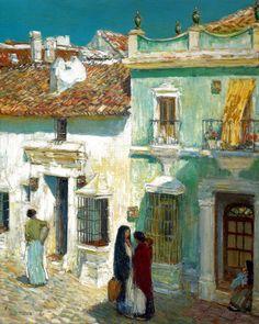 Childe Hassam - Plaza de la Merced, Rhoda, 1910 at Museo Thyssen-Bornemisza Madrid Spain