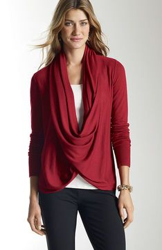 Draped pullover sweater on shopstyle.com