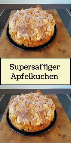Apple Cake Recipes, Easy Baking Recipes, Sweets Cake, Cupcake Cakes, German Baking, French Desserts, French Toast Bake, Little Cakes, Yummy Cakes